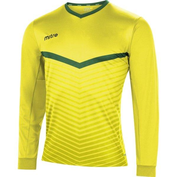 Mitre Unite Yellow/Emerald Football Shirt