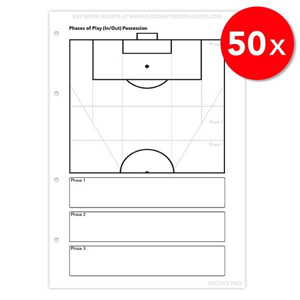 Tactics Pad 50x Phases of Play Refill Sheets