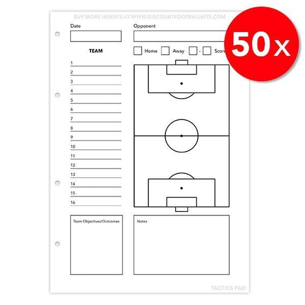 Tactics Pad 50x Team Sheets Refill Sheets
