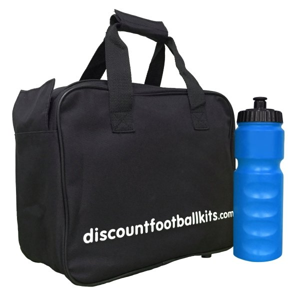 8 Water Bottles & Carry Bag Blue Bottles