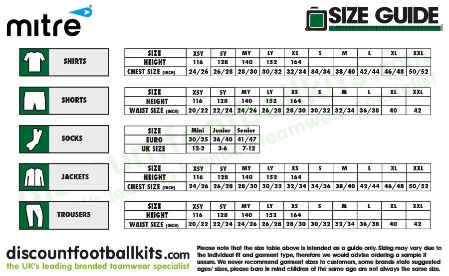 Adidas Boys Shorts Size Chart